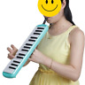 More images of 32-Key Melodica Keyboard with Hardcase with Mouthpiece & Hose & Bag Green