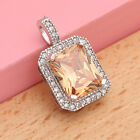 Lot Styles Crystal Mystic Topaz Pendant Necklace 925 Chain Women Jewelry Gift
