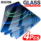 4-Pack For iPhone 12 Mini 11 Pro XR XS Max 8 7 6 Tempered Glass Screen Protector