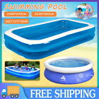 Inflatable Paddling Pool Swimming Pools Outdoor Garden Kids Adults Fun Family