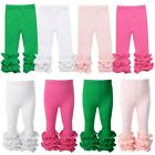 Baby Girl Ruffled Leggings Cotton Elastic Waistband Pants Toddler Casual Clothes