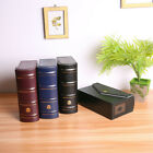 PU Leather Currency Holder Case Pocket PMG Graded Banknotes Label Collection Box