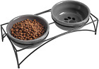 Y YHY Cat Bowls,Elevated Cat Food and Water Bowls with Stand,Raised Pet Bowls fo