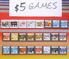 Nintendo DS & 3DS Games Authentic / Cleaned / Tested $5-15 Each Good Labels