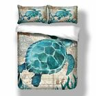 Sea Horse Turtle Octopus Whale Starfish Bedding Duvet Cover Set Pillow Case Gift