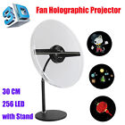 256 LEDs WiFi 3D Holographic Projector Hologram LED Advertising Display Fan 30CM