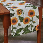 Sunflower Toile Cotton Country Farmhouse Table Runner