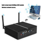 Fanless Mini PC Industrie Host 2 LAN Port Intel J1900 4GB RAM 64GB SSD Dual Band