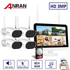 8CH 3MP HD Security Camera System Wireless Outdoor with 12  Monitor WiFi NVR 1TB