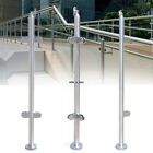 Railing Post Stainless Steel Balustrade End Posts Glass Clamps Fencing Garden