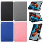 """For Samsung Galaxy Tab S7 11"""" S7 Plus 12.4"""" Folding PU Leather Stand Case Cover"""
