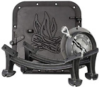 Cast Iron Barrel Camp Stove Kit heavy Duty Cast Iron Light Weight&Portable Black
