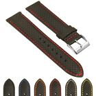 StrapsCo 18mm Carbon Fiber Smart Watch Band Strap with Quick Release Spring Bars