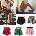 Women Casual Solid Summer Sports Shorts Gym Workout Yoga Shorts Elastic Waist
