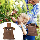 Outdoor Canvas Bushcraft Bag w/Leather Cover+Buckle Foldable Camping Pouch