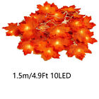 30/40/80 LED Maple Leaves Lamp Light Outdoor Harvest Artificial Decorations Fall