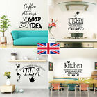 Wall Art Stickers For Kitchen, Removable Home Decor, Quality Diy Decal Quotes C