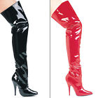 "Sexy 5"" High Heel Thigh High Patent Like Boots SUSIE BLACK RED or WHITE 5-14"