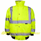 Kids Hi Viz Padded Warm Bomber Jacket High Visability Vis Childrens Boys Girls