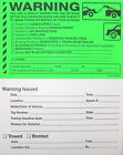 WARNING STICKER PARKING AUTO CAR TOWING 50 per pack