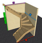 Oak Staircase > 6 kite Winder Stair