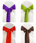 150 Polyester Chair Cover Sash Bows 100% Heavy Woven PolyPoplin Plain Made USA