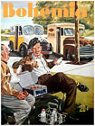 "087.Cuban Quality Design poster""Milkman and Baker.Panadero y Lechero"" art"