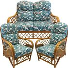 REPLACEMENT CUSHIONS CANE CONSERVATORY FURNITURE SUITE