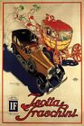 ITALY ISOTTA FRASCHINI LUXURY CAR AUTOMOBILE HORSE CARRIAGE VINTAGE POSTER REPRO