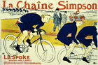 BIKE BICYCLE LA CHAINE SIMPSON CYCLING RACE FRENCH VINTAGE POSTER REPRO