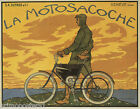 BICYCLE LA MOTOSACOCHE GENEVE SWISSERLAND REPRO POSTER