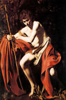 SAINT JOHN THE BAPTIST IN THE WILDERNESS BIBLICAL PAINTING BY CARAVAGGIO REPRO