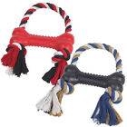 """Dog Toy Rubber & Rope Bone Tugs Active Pets Puppies 10"""""""