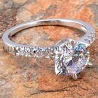 2Ct Round Brilliant Cut Wedding Bridal Engagement Solid Silver Ring Women Jewelr
