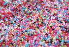 750+ 4mm Round Faceted Acrylic Tiny Beads Multi-Colours BUY ONE GET ONE FREE