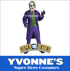 Joker Deluxe Batman Dark Knight Childs Fancy Dress Super Villain Costume S M L