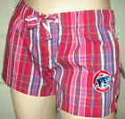 CHICAGO CUBS Womens Shorts Plaid