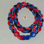 Phiten Triple Braid - Royal Blue/Cardinal Red/Black Custom Titanium