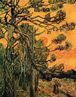 "Vincent Van Gogh- Pine Trees against a Red Sky - 20""x26""  Art on Canvas"