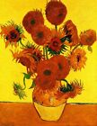 "Vincent Van Gogh- Still Life Vase with Fifteen Sunflowers- 20""x26"" Art on Canvas"