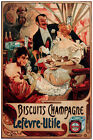 2534.Biscuits Champagne french POSTER.Nouveau Home decor interior room design