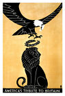 """Americas Tribute to Britain - 20""""x32"""" Military Recruiting Poster on Canvas"""