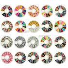Nail Art Rhinestones Glitters Acrylic Tips Decoration Manicure Wheel 20 styles