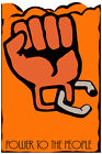 3137.Power to the people,orange fist civil right POSTER.Political Decor wall Art