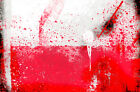 "Poland, Polish, Polska Flag 24""x36"" Canvas Wall Art Print"