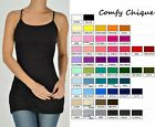 LONG & LEAN CAMI CAMISOLE TUNIC TANK TOP S-XXXL SIZES 0-20 *ALL COLORS *NO BRA