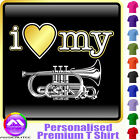 Cornet I Love My - Personalised Music T Shirt 5yrs - 6XL by MusicaliTee