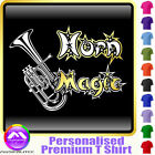 Tenor Horn Magic - Personalised Music T Shirt 5yrs - 6XL by MusicaliTee