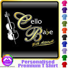 Cello Babe With Attitude - Personalised Music T Shirt 5yrs - 6XL by MusicaliTee