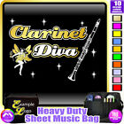 Clarinet Diva - Sheet Music & Accessories Personalised Bag by MusicaliTee
